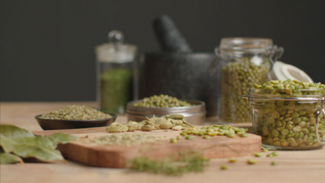 Slow-Tracking-In-Shot-to-Herbs-and-Grains