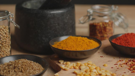 Tracking-In-Shot-from-Spices-to-Mortar-and-Pestle-on-Table