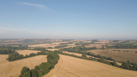 Drone-Shot-Flying-Over-Rural-Countryside-Fields