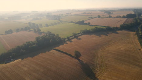 Drone-Shot-Flying-Over-English-Countryside-Fields