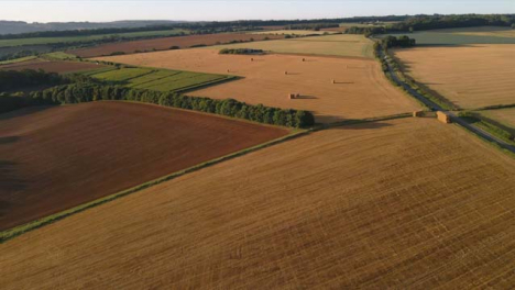 Drone-Shot-Flying-Over-Some-English-Countryside-Fields