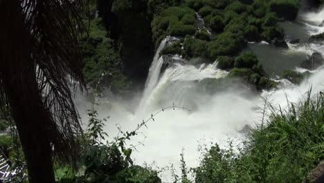 Iguazu-Falls-Argentina-looking-down-at-a-cascade