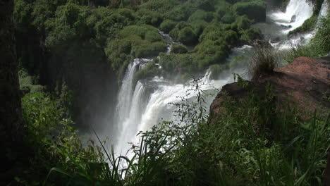 Iguazu-Falls-Argentina-looking-down-at-falling-water
