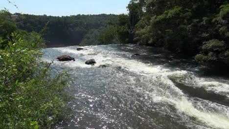 Iguazu-Falls-Argentina-rapids-in-river-on-brink