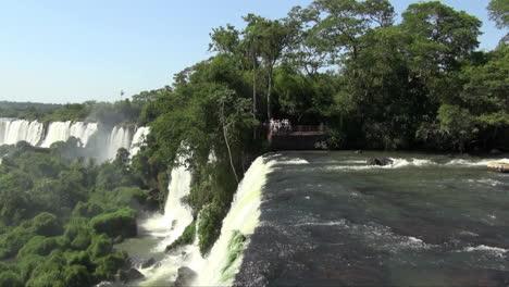 Iguazu-Falls-Argentina-river-plunges-over-ledge