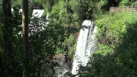 Iguazu-Falls-Argentinien-Baumstämme-Promenade-Und-Kaskaden