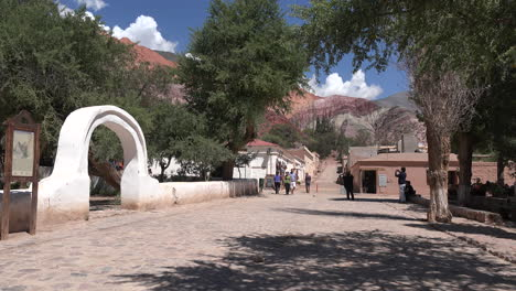 Argentina-Purmamarca-arch-and-street