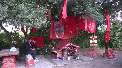 Argentina-shrine-to-a-folk-saint-near-Salta