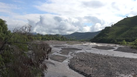 Argentina-view-of-braided-stream-zooms-in