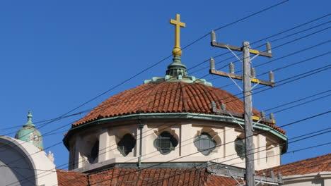 San-Francisco-California-Mission-Dolores-Basílica-Cúpula-Y-Línea-Eléctrica