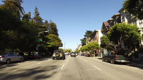 San-Francisco-California-streets-lined-with-trees-and-houses