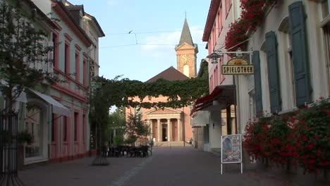 Alemania-Renania-Pfalz-Town-Street-Y-La-Iglesia