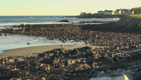 Maine-York-Beach-Mit-Möwenfliegen