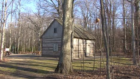 Cabaña-De-Madera-De-Michigan-En-El-Bosque