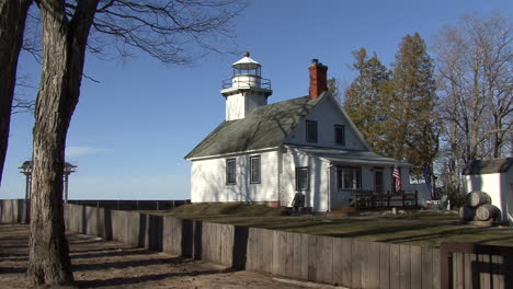 Michigan-white-frame-lighthouse