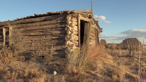 Cabaña-De-Troncos-En-Ruinas-Nevada