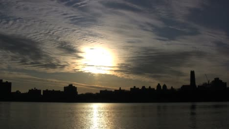 New-York-City-with-sun-and-clouds