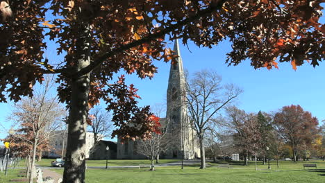 Goshen-New-York-church-and-leaves