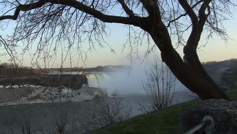 New-York-Niagara-Falls-Umrahmt-Von-Einem-Baum