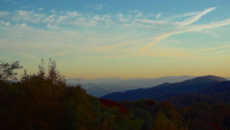 North-Carolina-Smoky-Mountains-evening-sky-paning