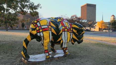 Oklahoma-Bartlesville-colorful-bison