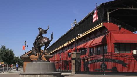 Oregon-Pendleton-Vaquero-Estatua-Y-Arena
