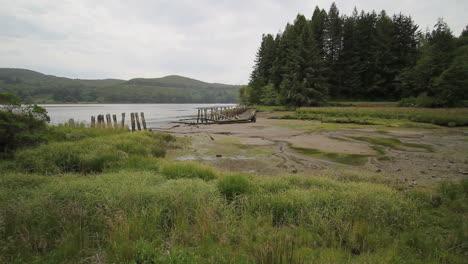 Oregon-Yakina-Bay-Ebbe-Mit-Brückenruine
