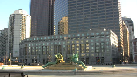 Philadelphia-Pennsylvania-high-rise-and-fountain