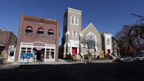 Bennington-Vermont-Kirche-Und-Zeitungsbüro