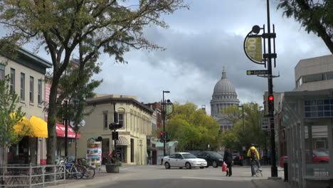 Cúpula-De-La-Casa-Del-Estado-De-Wisconsin-Madison-Y-State-Street