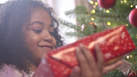 Girl-Holding-Christmas-Present