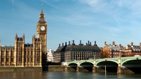 Timelapse-Del-Big-Ben-Y-El-Puente-De-Westminster