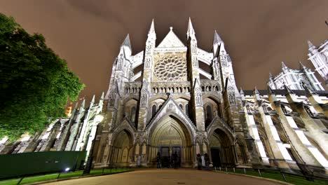 Noche-De-Timelapse-De-La-Abadía-De-Westminster
