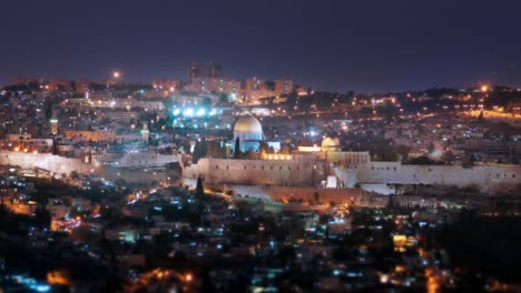 Jerusalem-Timelapse-Day-to-Night