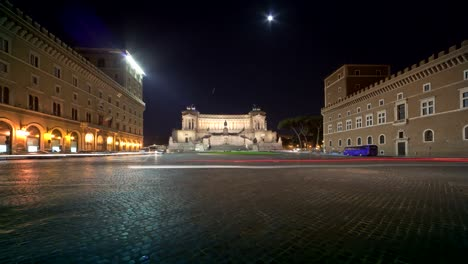 Piazza-Venezia-Night-Timelapse