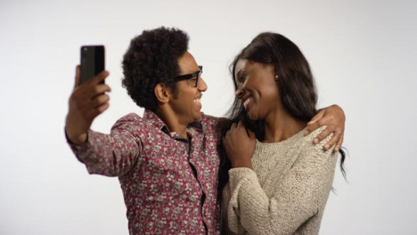 A-Couple-Pose-Taking-Selfies