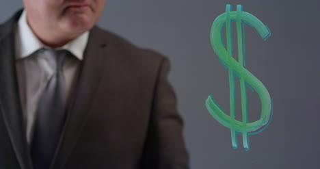Geschäftsmann-Der-Dollarsymbol-Zeichnet