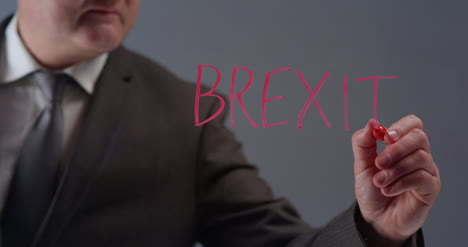 Businessman-Writing-Term-Brexit