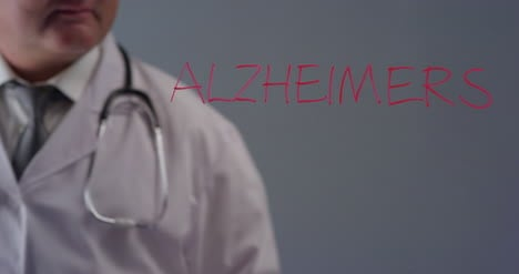 Doctor-Writing-The-Word-Alzheimers