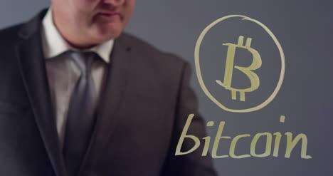 Empresario-Dibujo-Bit-Moneda-Símbolo