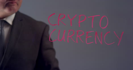 Businessman-Writes-The-Term-Crypto-Currency