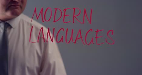 Man-Writing-the-Term-Modern-Languages