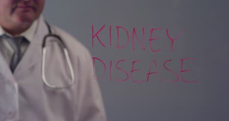 Doctor-Writing-the-Term-Kidney-Disease