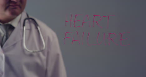 Doctor-Writing-the-Term-Heart-Failure