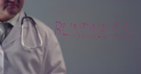 Doctor-Writing-the-Word-Blindness
