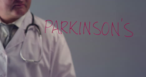 Doctor-Writing-the-Word-Parkinson-s