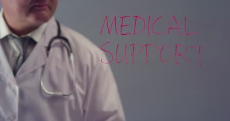 Doctor-Writing-the-Term-Medical-Support