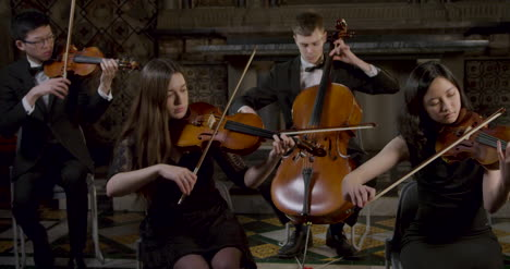 String-Quartet-Playing-Music-Together