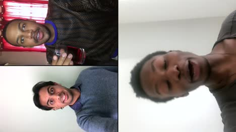 Tres-Amigos-Varones-Hablando-Por-Video-Chat