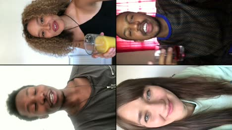 Four-Friends-Saying-Cheers-Over-Video-Chat-Vertical